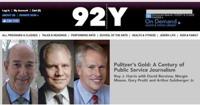 event at the 92 Y